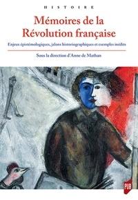 Deedr.fr Mémoires de la Révolution française - Enjeux épistémologiques, jalons historiographiques et exemples inédits Image