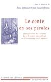 Anne Defrance et Jean-François Perrin - Le conte en ses paroles - La figuration de l'oralité dans le conte merveilleux du Classicisme aux Lumières.