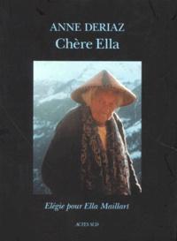 Deedr.fr CHERE ELLA. Elégie pour Ella Maillard Image
