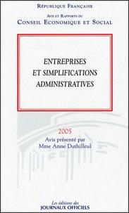 Entreprises et simplifications administratives - Avis et rapports du Conseil Economique et Social Séance des 24 et 25 mai 2005.pdf