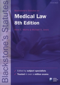 Blackstone's Statutes on Medical Law - Anne-E Morris |