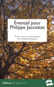 Anne-Elisabeth Halpern - Eventail pour Philippe Jaccottet.