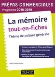 Anne-France Grenon - La mémoire tout-en-fiches - Thème de culture générale.