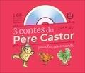 Anne Fronsacq et Robert Giraud - 3 contes du Père Castor pour les gourmands - Le petit bonhomme de pain d'épice ; Le coq glouton ; Le gros navet. 1 CD audio