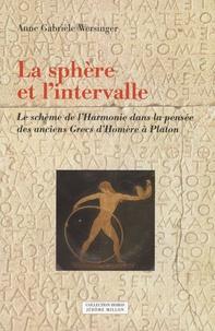 Anne Gabrièle Wersinger - La sphère et l'intervalle - Le schème de l'Harmonie dans la pensée des anciens Grecs d'Homère à Platon.