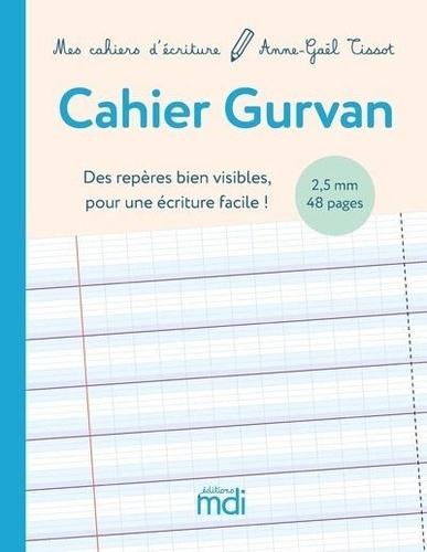 Cahier Gurvan 2,5mm. Des repères bien visibles pour une écriture facile !