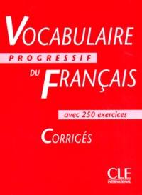 Vocabulaire Progressif Du Francais Avec 250 Exercices Niveau