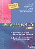 Anne Jarry et Agnès Moreau - Processus 4 et 5 Production et analyse de l'information financière, Gestion des immobilisations et des investissements BTS CGO 1e année.