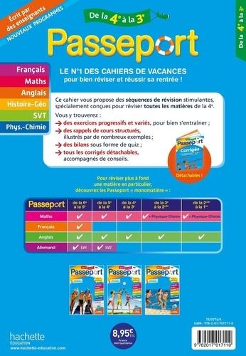 Passeport Toutes les matières de la 4e vers la 3e