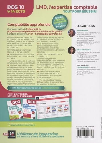 DCG 10 Comptabilité approfondie. Manuel + applications + corrigés