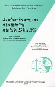 Birrascarampola.it La réforme des successions et des libéralités et la loi du 23 juin 2006 - Actes du colloque organisé par le Centre Pierre Kayser (Aix-en-Provence, 15 décembre 2006) Image