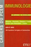Anne Lefaou et Nadège Chailleux - Immunologie - Médecine - Pharmacie : Concours 1ere année, Premier Cycle Universitaire - Licence.