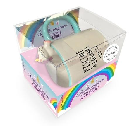 Coffret Piscine à licorne. Recettes magiques pour journée fantastique ! avec 1 mug licorne
