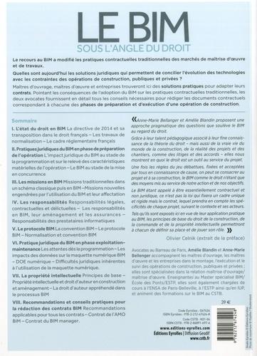 Le BIM sous l'angle du droit. Pratiques contractuelles et responsabilités 2e édition