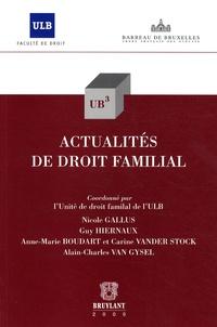 Anne-Marie Boudart et Nicole Gallus - Actualités de droit familial.