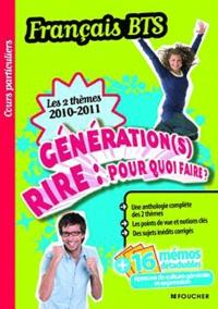 Deedr.fr Français BTS Les 2 thèmes 2010-2011 - Génération(s) et Rire : pour quoi faire ? Image