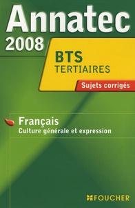 Anne-Marie Cazanave - Français BTS tertiaires et industriels - Sujets corrigés.