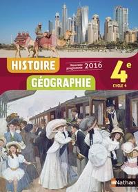Anne-Marie Hazard-Tourillon et Armelle Fellahi - Histoire Géographie 4e Cycle 4.
