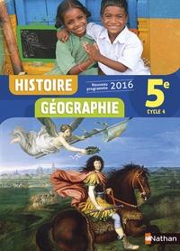 Anne-Marie Hazard-Tourillon et Sébastien Cote - Histoire Géographie 5e Cycle 4.