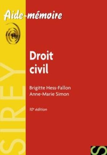 Anne-Marie Hess-Fallon et Brigitte Hess-Fallon - Droit civil.