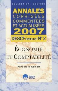 Goodtastepolice.fr Economie et comptabilité DESCF n° 2 - Annales corrigées, commentées et actualisées Image