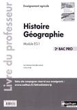 Anne-Marie Lelorrain et Louis Larcade - Histoire Géographie 2e Bac Pro Module EG1 - Livre du professeur.