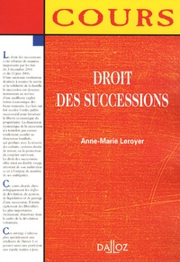 Anne-Marie Leroyer - Droit des successions.