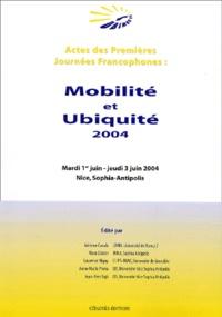 Mobilité et ubiquité- 1es journées francophones - Anne-Marie Pinna-Déry pdf epub