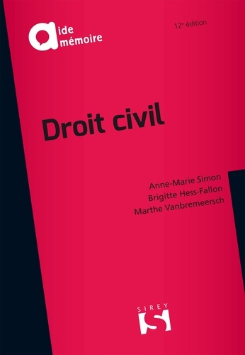 Anne-Marie Simon et Brigitte Hess-Fallon - Droit civil.