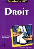 Anne-Marie Simon et Brigitte Hess-Fallon - Droit, terminale STT.