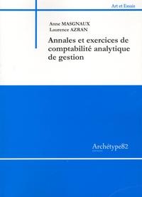 Annales et exercices de comptabilité analytique de gestion - Anne Masgnaux |
