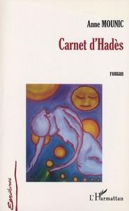 Anne Mounic - Carnet d'Hadès.