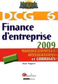 Anne Nippert - Finance d'entreprise DCG6 - Manuel complet, applications et corrigés.