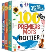 Anne Paradis et Annie Sechao - Boitier - Mes 100 premiers mots - 3 livres de mots.