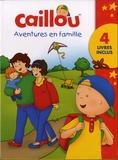 Anne Paradis et Eric Sévigny - Caillou  : Coffret Aventures en famille - Contient 4 volumes : Caillou au Zoo ; Le grand frère ; Le petit bateau ; A la fête foraine.