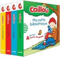 Anne Paradis et  Kary - Caillou  : Ma petite bibliothèque - Coffret en 4 volumes : Caillou va au restaurant ; Caillou se fait garder ; Caillou va à la garderie ; Caillou fait les courses.