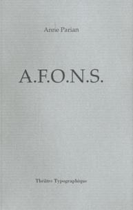 Anne Parian - AFONS.