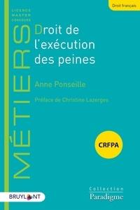 Anne Ponseille - Droit de l'exécution des peines.