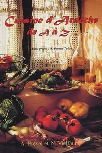 Anne Prével et Nicole Vielfaure - Cuisine d'Ardèche de A à Z.