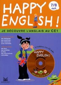 Happy english ! 7/8 ans.- Je découvre l'anglais au CE1, avec CD audio - Anne-Rachel Serrain   Showmesound.org
