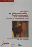 Anne Raymonde de Beaudrap - Littérature en lycée professionnel ? - Représentation des PLP en formation à l'IUFM.