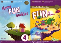 Anne Robinson et Karen Saxby - Fun for Movers Student's Book 4the edition ; Home Fun Booklet 4 - Pack en 2 volumes.