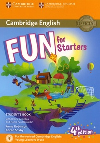 Anne Robinson et Karen Saxby - Fun for Starters Student's Book - Avec Home Fun Booklet 2.