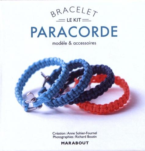 Bracelet paracorde. Modèle, technique et accessoire. Avec 2,60 m de paracorde, 1 manille