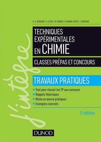 Techniques expérimentales en chimie 3e édition