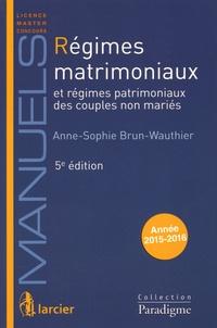 Régimes matrimoniaux et régimes patrimoniaux des couples non mariés 2015-2016.pdf