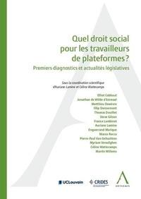 Quel droit social pour les travailleurs de plateformes numériques ? - Premiers diagnostics et actualités législatives.pdf