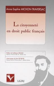 Anne-Sophie Michon-Traversac - La citoyenneté en droit public français.