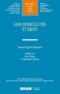 Anne-Sophie Ranaivo - Sans domicile fixe et droit.