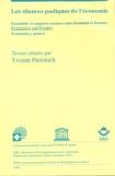 Anne Zwahlen et Yvonne Preiswerk - Les silences pudiques de l'économie - Économie et rapports sociaux entre hommes et femmes.